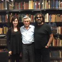 Tori and Shuki Levy with Prof. Hanoch Gutfreund, physicist and Einstein expert
