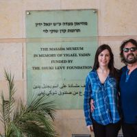 Tori and Shuki Levy at Masada Museum