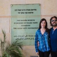 Tori and Shuki Levy at Masada Museum